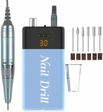 Electric Nail File Efile 6 Part Drill Kit Rechargeable 30000RPM Adjustable Speed