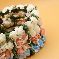 1 pcs Girl Rose Flower Crown Headband Wedding Prom Beach Floral Garland Hairband