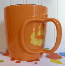 2003 ORANGE STARBUCKS HALLOWEEN 3D PUMPKIN HANDLE MUG MINT!