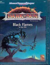 RPG JEU DE ROLE /  AD&D 2 DARK SUN BLACK FLAMES