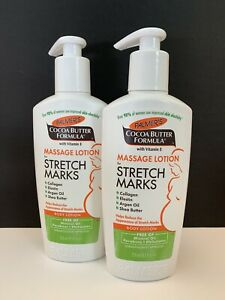 2 Pack Palmers Cocoa Butter Formula Massage Lotion For Stretch Marks 8.5 Oz Pump