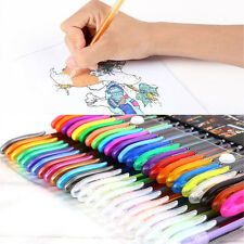 48 Colors Gel Pens Rollerball Pastel Neon Sketch Drawing Color Pen Set Markers