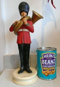 28cm Tall Vintage Military Figure Guard Bandsman Tuba Player Michael Sutty Style