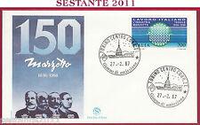 ITALIA FDC FILAGRANO LAVORO ITALIANO INDUSTRIA MARZOTTO 1987 ANNULLO TORINO Z722