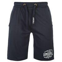 Lonsdale Lightweight Sweat Shorts Mens Navy Sportswear Short Boxing MMA
