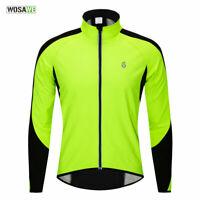 Winter Cycling Jacket Bike Windproof Thermal Fleece Coat Riding Jersey + Caps