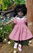 Smocked Dress for Sasha Doll handcrafted by Wendy