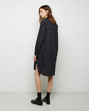 BNWT ISABEL MARANT ETOILE 'rane shirt dress' red midnight blue checkered 36