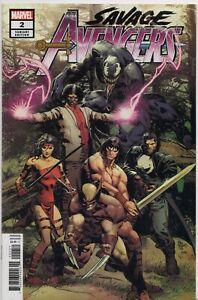 Marvel Comics SAVAGE AVENGERS #2 Variant Cover Venom Conan Elektra