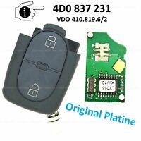 Fernbedienung Ersatz Schlüssel 433,92 MHz für Audi A2 A3 A4 A6 A8 TT 4D0837231
