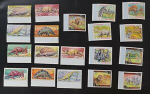 Fujeira mk#167-76 + #231-9 two VF MNH animals sets (v381)