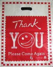 ►► PLASTIC BAGS XL thank you red