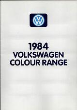 Volkswagen Exterior Colours 1983-84 UK Market Brochure Polo Golf Passat Scirocco