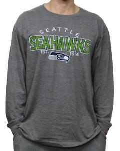 "Seattle Seahawks NFL G-III ""Playoff"" Men's Dual Blend L/S T-shirt - Graphite"