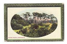 Vintage embossed postcard Upper Heath, Hampstead. pmk Willesden S.O 1909