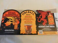 Pair of Fireball Cinnamon Whisky Drink Recipes Advertising Piece