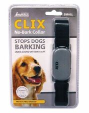 Clix No Barking Anti Bark Dog Collar Deterrant Sound Or Vibration - Small