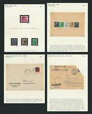 GERMANY STAMPS 1945 SAXONY EMERGENCY HITLER COVER & LOBAU, 4 PAGES LOCAL ISSUES
