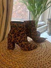 Topshop Leopard Print Ankle Boots Size 5/38