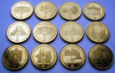 FIFA GERMANY 2006 WORLD CUP Collection of 12 Medals 29mm 8g Rare K11