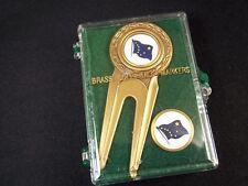 Alaska Flag brass golf ball marker set 2 in plastic case Classic Line Racine WI