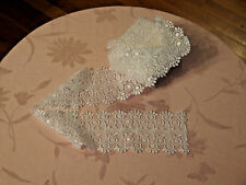 3.5 yards VTG Bridal WHITE Guipure/Venice Lace 3.5 inches wide, NEW never used