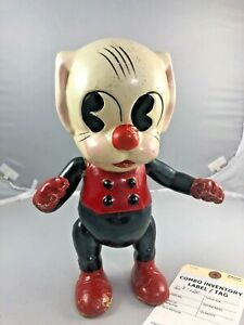 """11"""" Antique American Composition Toby Comic Strip Character Doll! Adorable!"""