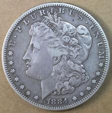 $1 1884-S Morgan Silver Dollar VF * AvenueCoin