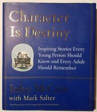John McCain signed book Character Is Destiny - MLK, Gandhi, Shackleton, Lincoln