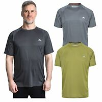 Trespass Esker Mens Anti-bacterial Active Top Summer Workout Shirt Bamboo Blend