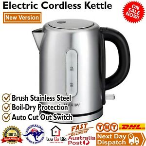 Small Compact Electric Kettle Cordless Stainless Steel Student Caravan Kitchen