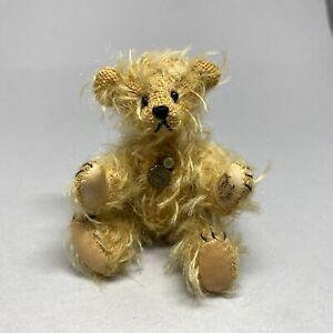 Hermann Teddy Original Miniature Gold Mohair Bear - 8cm