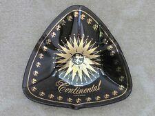 Continental Hotel Chicago, Illinois Black Glass Ashtray - Vintage RARE