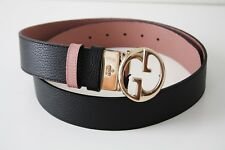 GUCCI GÜRTEL Ledergürtel UNISEX 450000 Gr. 85 schwarz rosa gold
