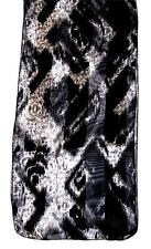 SCARF Long Black & White Stripes MUTED ABSTRACT PRINT
