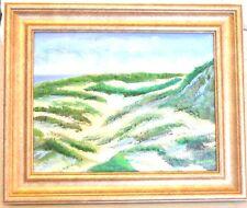 "Cape Cod TRURO DUNES Oil on canvas11""x14"" framed artist Robert Barlow"