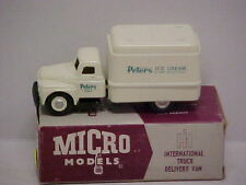 """Micro Models International Delivery Van """" Peters Ice Cream """" L/E Mint Boxed"""