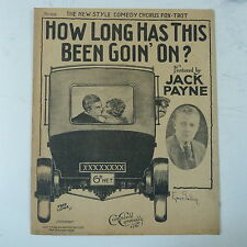 songsheet HOW LONG HAS THIS BEEN GOING ON jack payne 1928