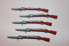 Playmobil soldados 5 fusiles con bayonetas mosquetón ACW estados del norte estados sureños