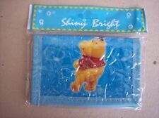 Shiny Bright Winnie the Pooh Childrens Kids Wallet Blue