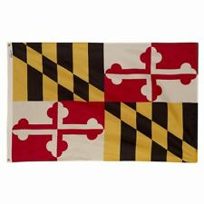 5x8 ft MARYLAND OFFICIAL STATE FLAG Heavy 2 Ply Polyester Material Made in USA