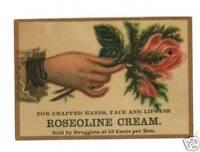 PETROLIA PENNSYLVANIA DRUGGIST ROSEOLINE CREAM ADV CARD