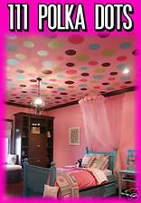 LARGE 111 POLKA DOTS Vinyl Wall Graphics decals decor