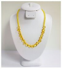 NEW AAA Natural Citrine Beads Necklace , Teardrop, faceted, sparkling Yellow