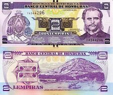 HONDURAS 2 Lempiras Banknote World Paper Money UNC Currency Pick p97 Note Bill