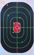 "GlowShot 16"" x 10"" Oval Heavy Card Reactive Splatter Shooting Targets 25 Pack"