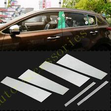 Chrome Stainless Steel Window Pillar Posts Cover Trim For Kia Sportage 2017-2020