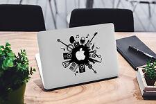 Music Decal for Macbook Pro sticker vinyl air mac 13 15 11 laptop skin dj audio