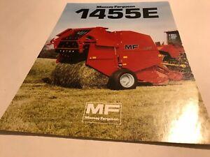 MASSEY FERGUSON  MF 1455E Round Baler - Original 1985 Vintage Sales Brochure