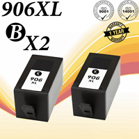 2 Pack 906XL Ink Cartridge for HP 906 Officejet Pro 6978 6975 6970 6960 Printer